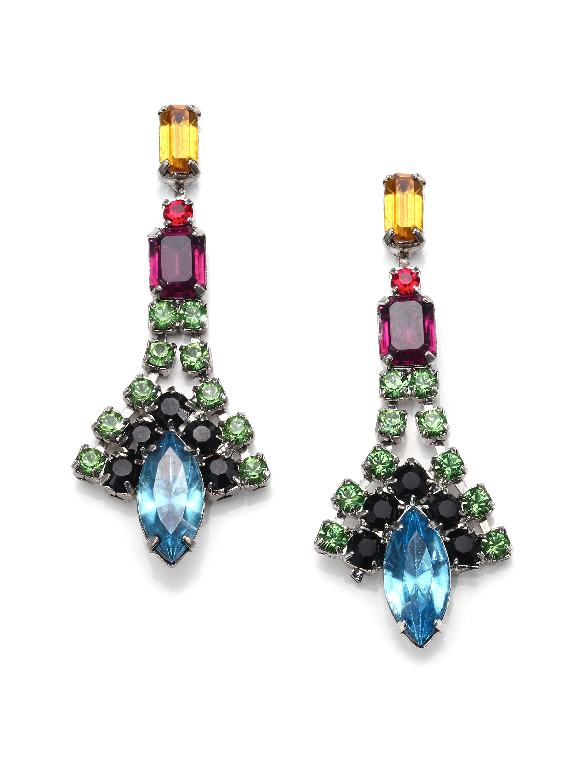 colour beads multicolor antique gemstone with plated gold index jhumka jewellery multi golden chandelier earrings hanging