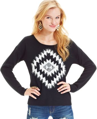 Almost Famous Long Sleeve Graphic Eyelash knit - Lyst