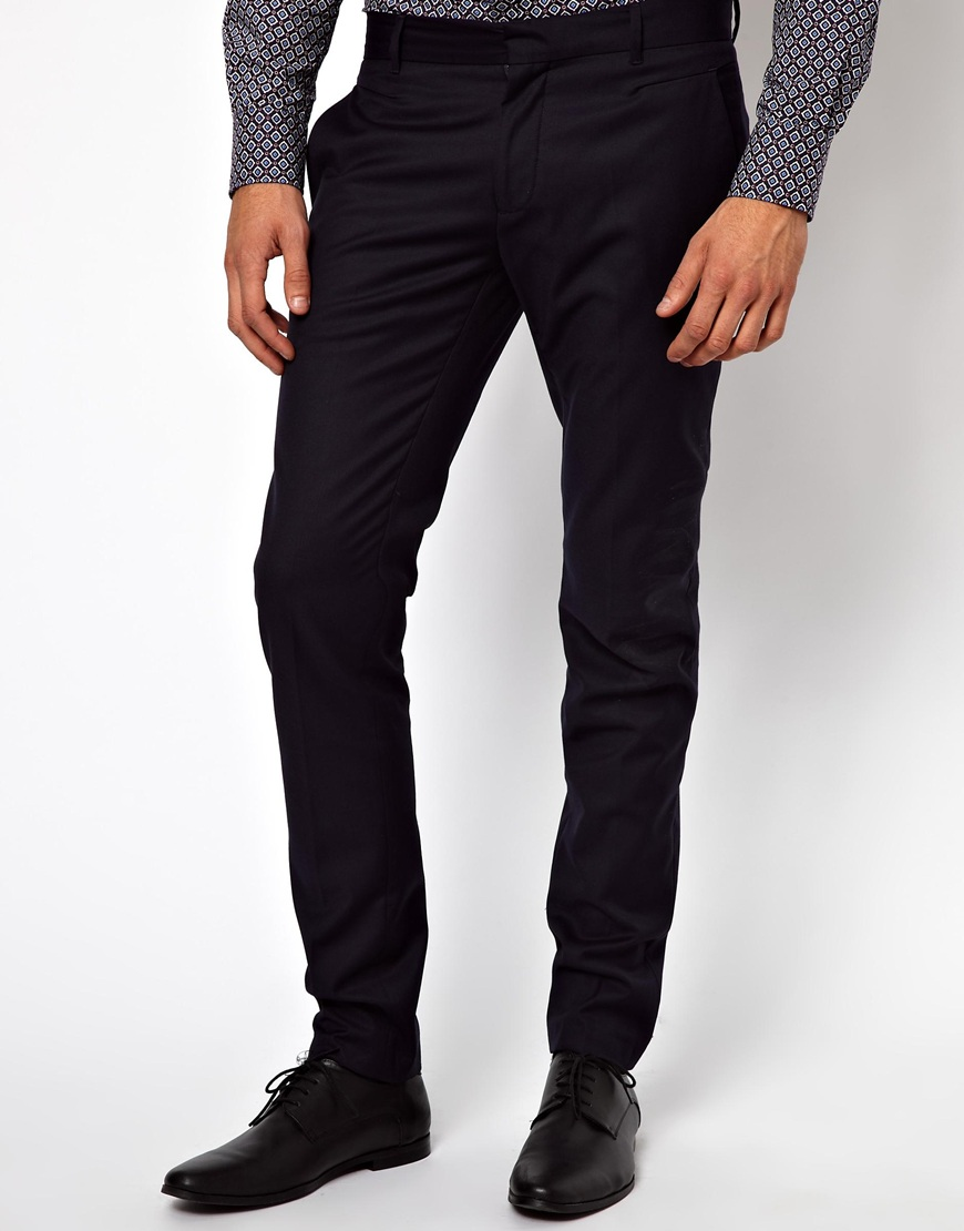 Rook Antony Morato Slim Fit Suit Pants in Black for Men | Lyst