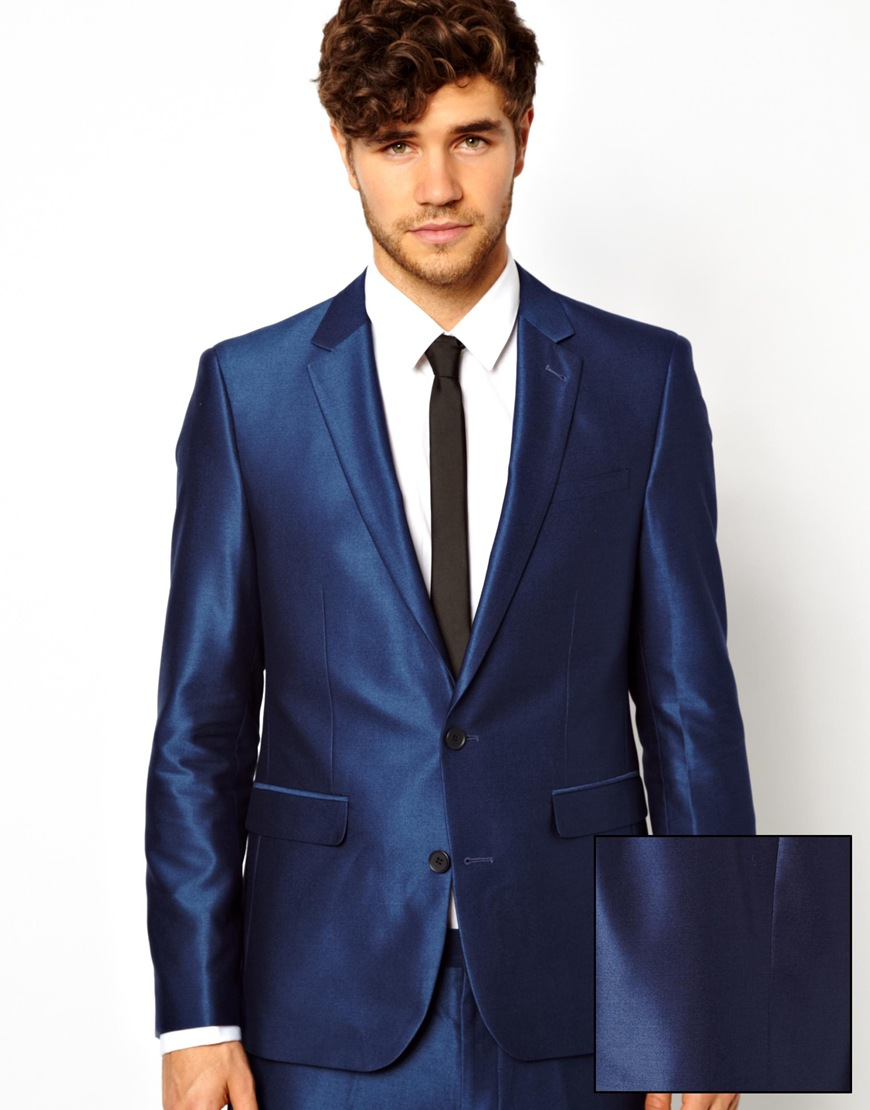 Lyst - Asos Slim Fit Suit In Tonic in Blue for Men