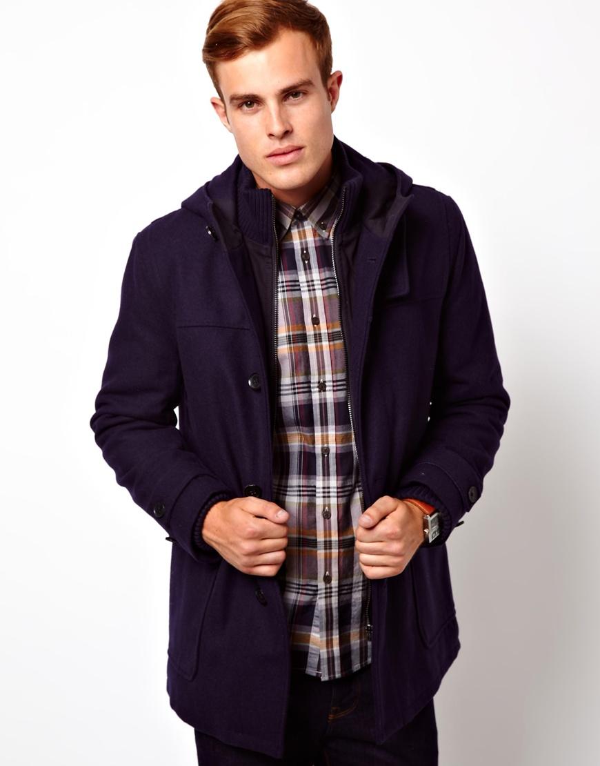Ben sherman Duffle Coat in Blue for Men | Lyst