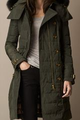 Burberry Fur Trim Downfilled Parka