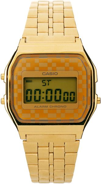 Back View Of Casio Watches Gold