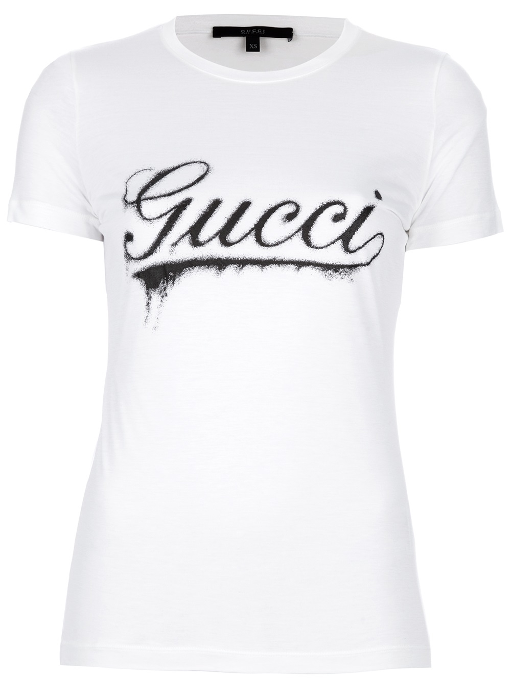 Lyst gucci logo print tshirt in black for Tee shirt logo printing