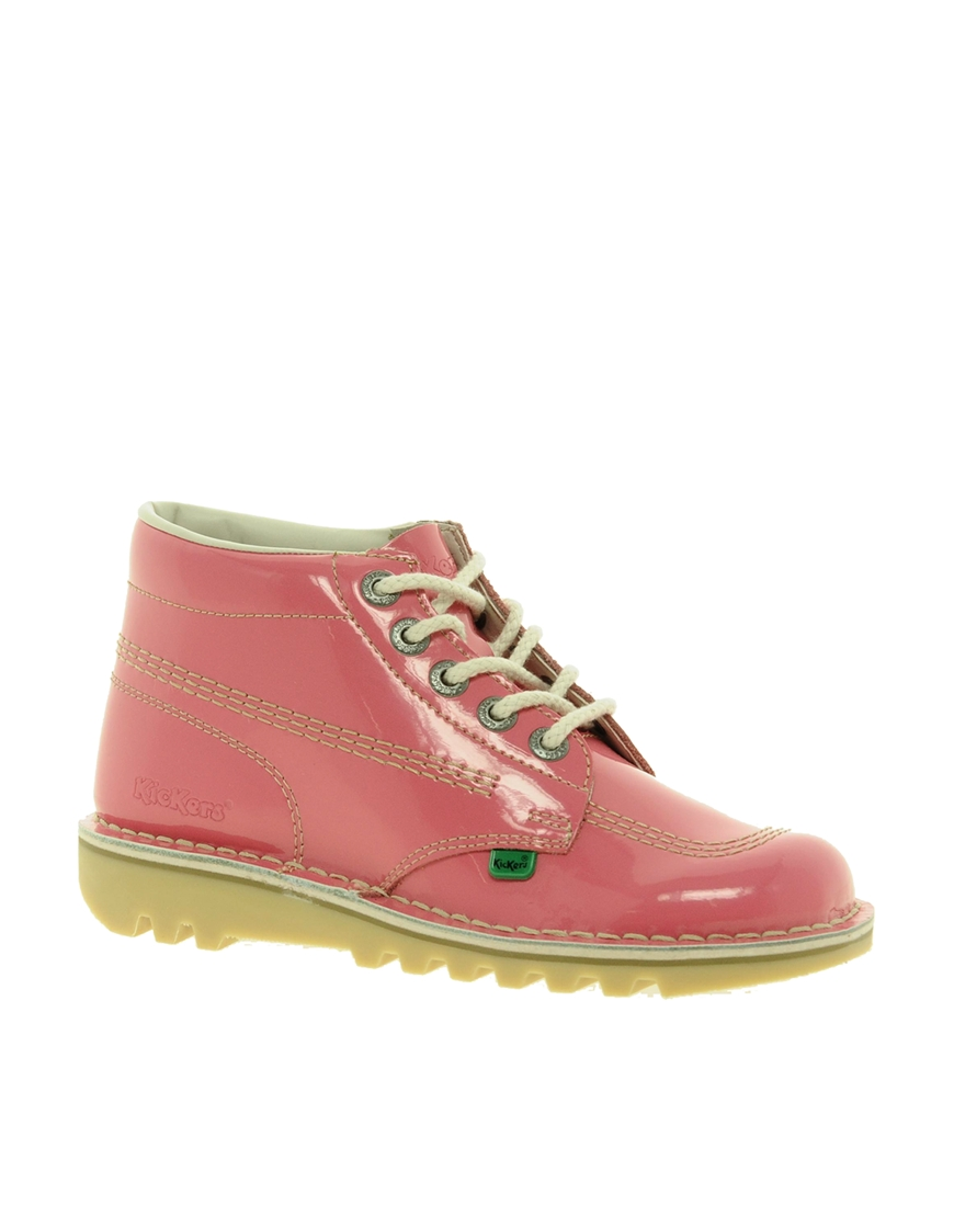 Creative Home Woman Womens Kickers Kick Hi Brights Hot Pink Boots