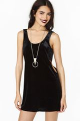 Nasty Gal Infatuation Velvet Dress Black - Lyst