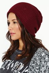 Nasty Gal Nevermind Shredded Beanie - Lyst