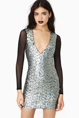 Nasty Gal Future Calls Sequin Dress - Lyst