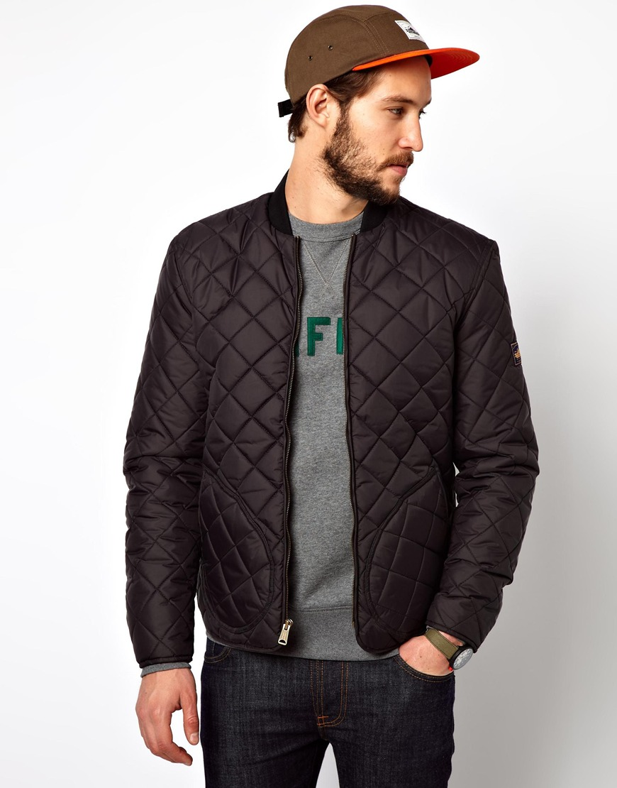 Lyst Penfield Landrum Quilted Bomber Jacket In Black For Men