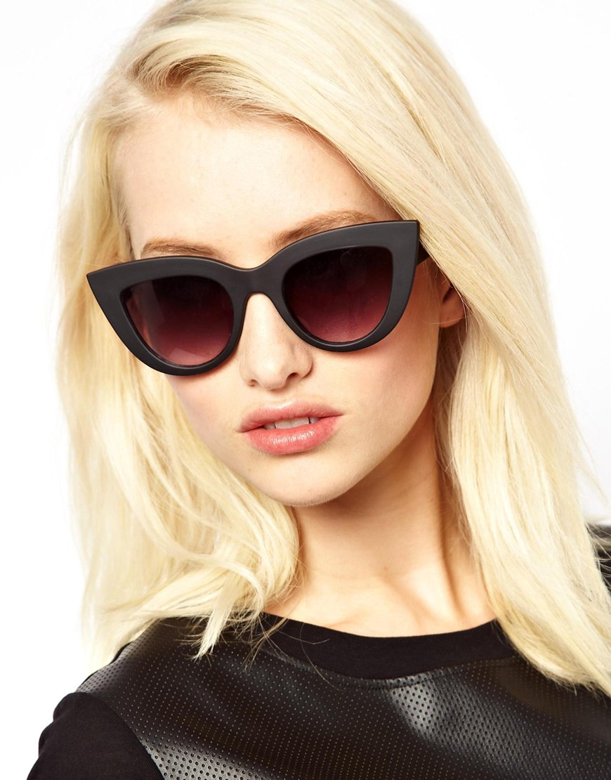 Quay Kitti Sunglasses  asos quay kitti cat eye sunglasses in black lyst