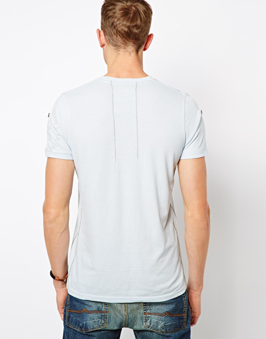 French Connection Ringspun Aquila Tshirt In Blue For Men