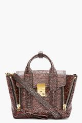 3.1 Phillip Lim Pink Textured Leather Mini Pashli Satchel - Lyst