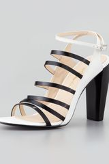 3.1 Phillip Lim Ella Strappy Leather Sandal White - Lyst