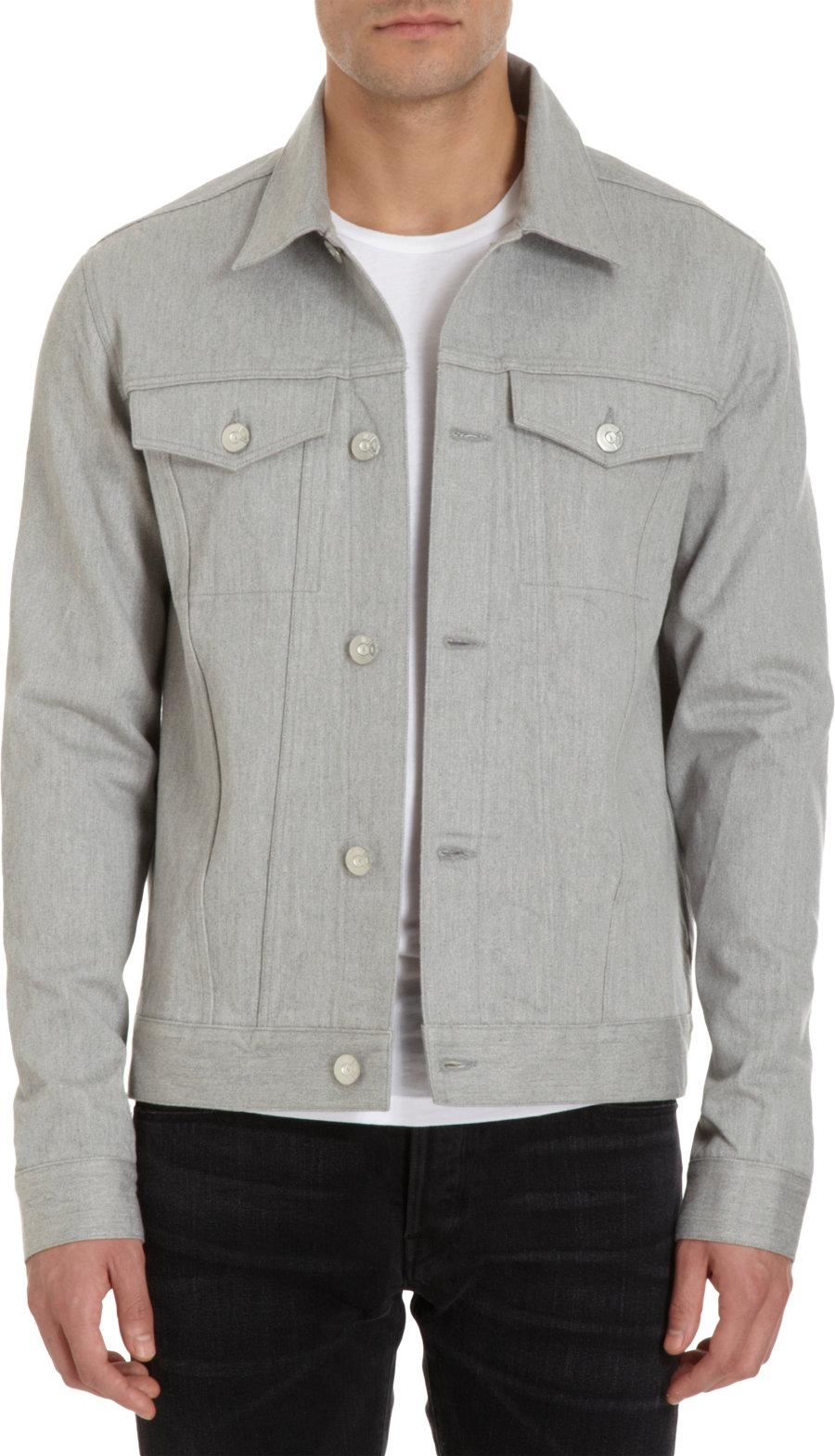 Mens Gray Denim Jacket - JacketIn