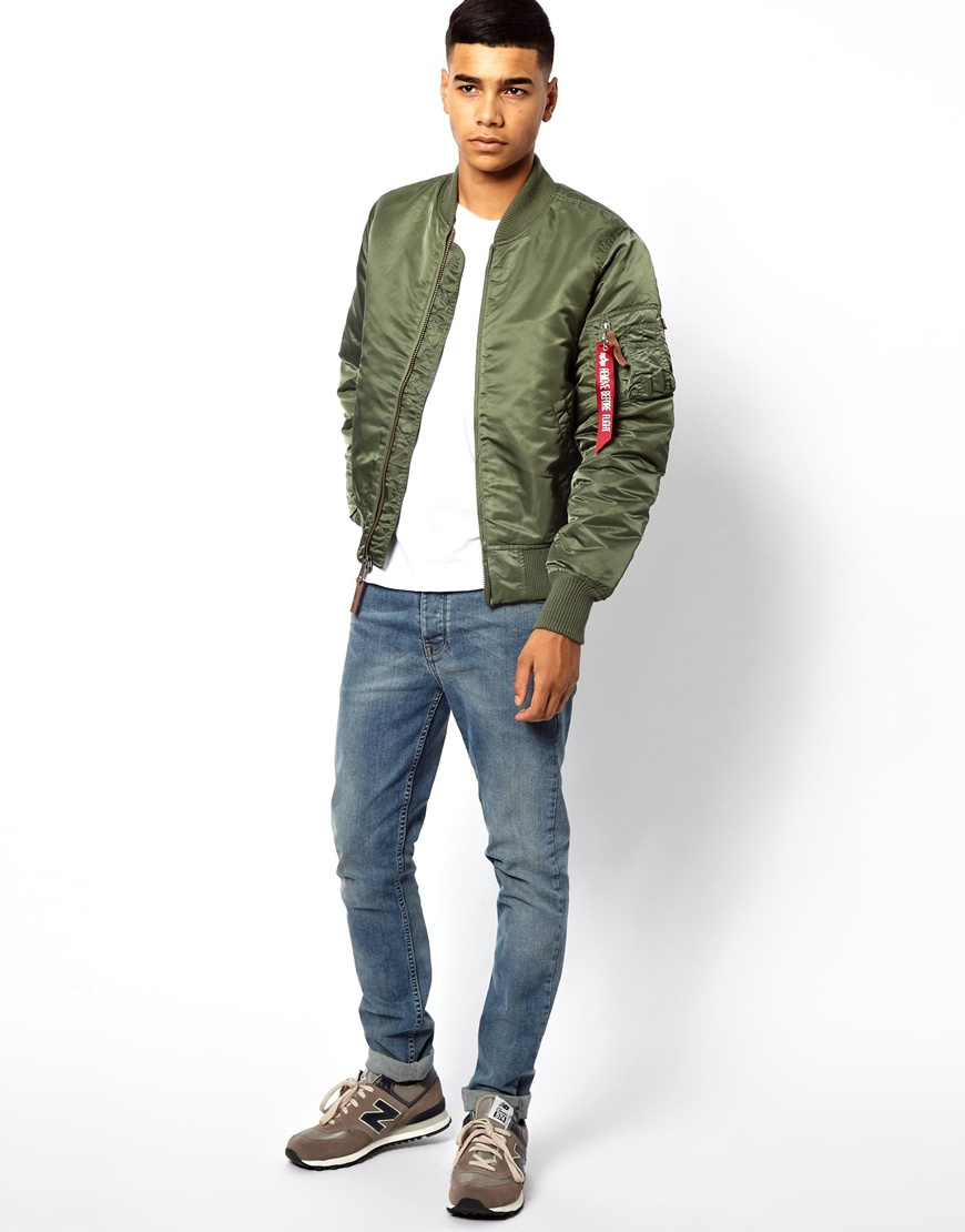Paul smith Alpha Industries Ma1 Bomber Jacket in Green for Men | Lyst