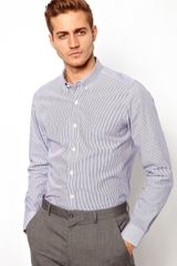 Asos Smart Stripe Shirt in Long Sleeve - Lyst