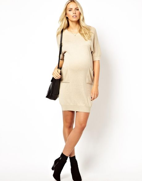 Asos Maternity Exclusive Jumper Dress In Cocoon Shape in ...
