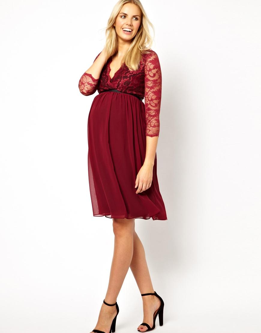 012a1e45a97bd Asos Blue Lace Maternity Dress – DACC