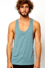 Asos Vest with Extreme Racer Back - Lyst