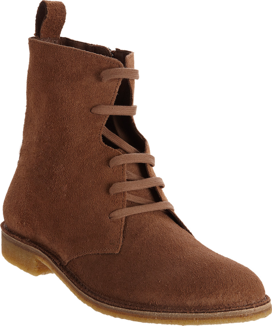83d3eb624a1e Lyst - Bottega Veneta Side-Zip Suede High-Top Boots in Brown for Men