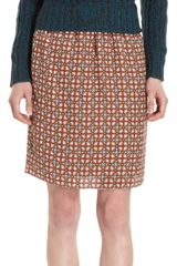 Carven Medallion Print Skirt - Lyst