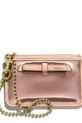 Coach Poppy Id Skinny in Mirror Metallic Leather - Lyst