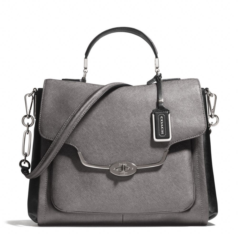 ... spain lyst coach madison sadie flap satchel in spectator saffiano c5477  5569f 463380c3577a9