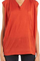Derek Lam Sleeveless Drape Top - Lyst