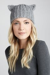 Eugenia Kim Felix Knit Cap with Animal Ears Gray - Lyst