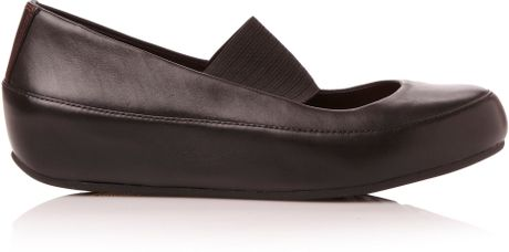 Fitflop Due Mary Jane Elastic Strap Pump Shoes In Black