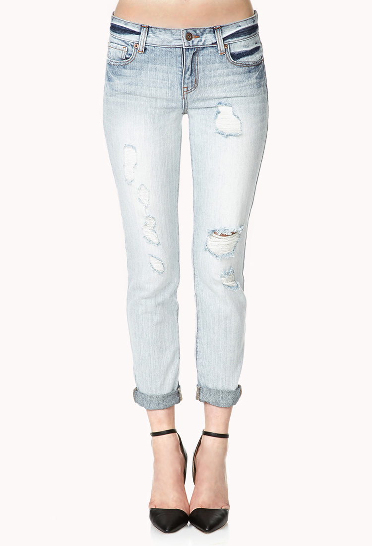 Cheap Monday Jeans Blue Forever 21 Laid Back B...