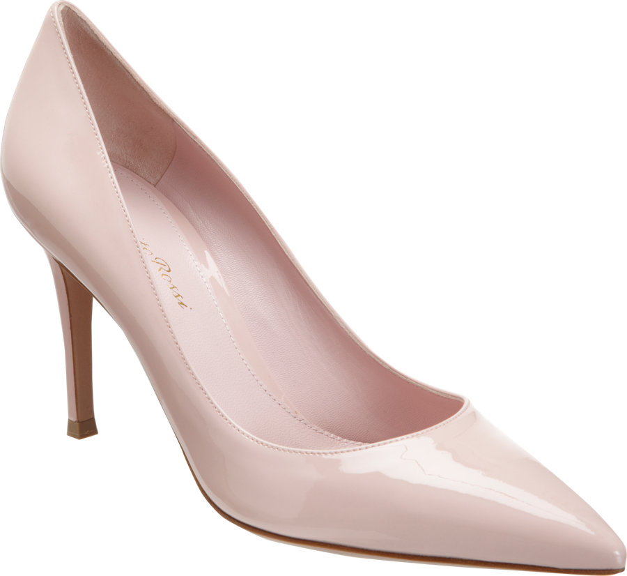 Lyst Gianvito Rossi Patent Pointed Toe Pump In Pink