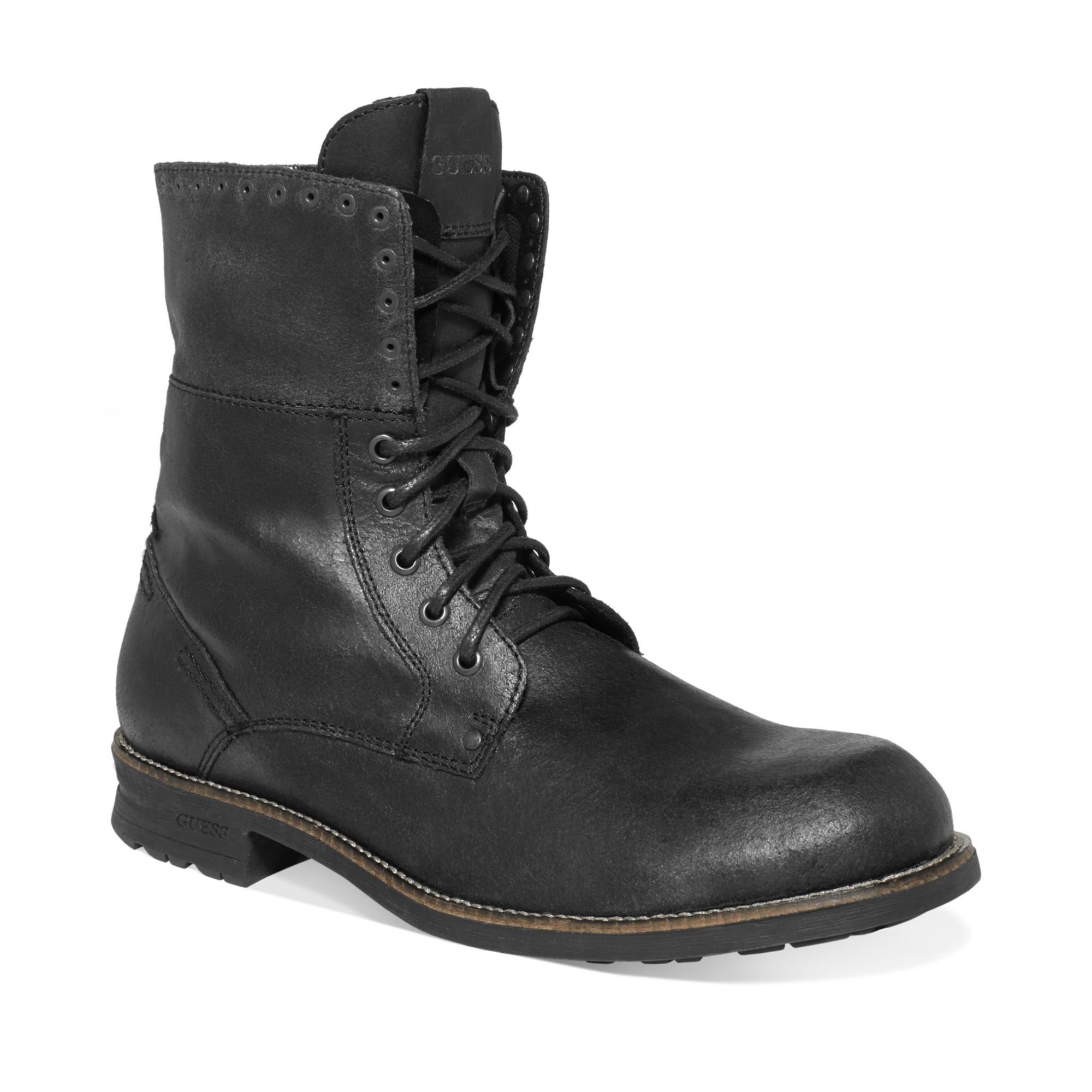 guess mens shoes differ boots in black for black