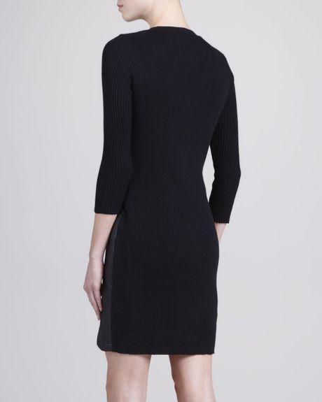 Laundry By Shelli Segal Fauxleather Sweater Combo Dress in ...