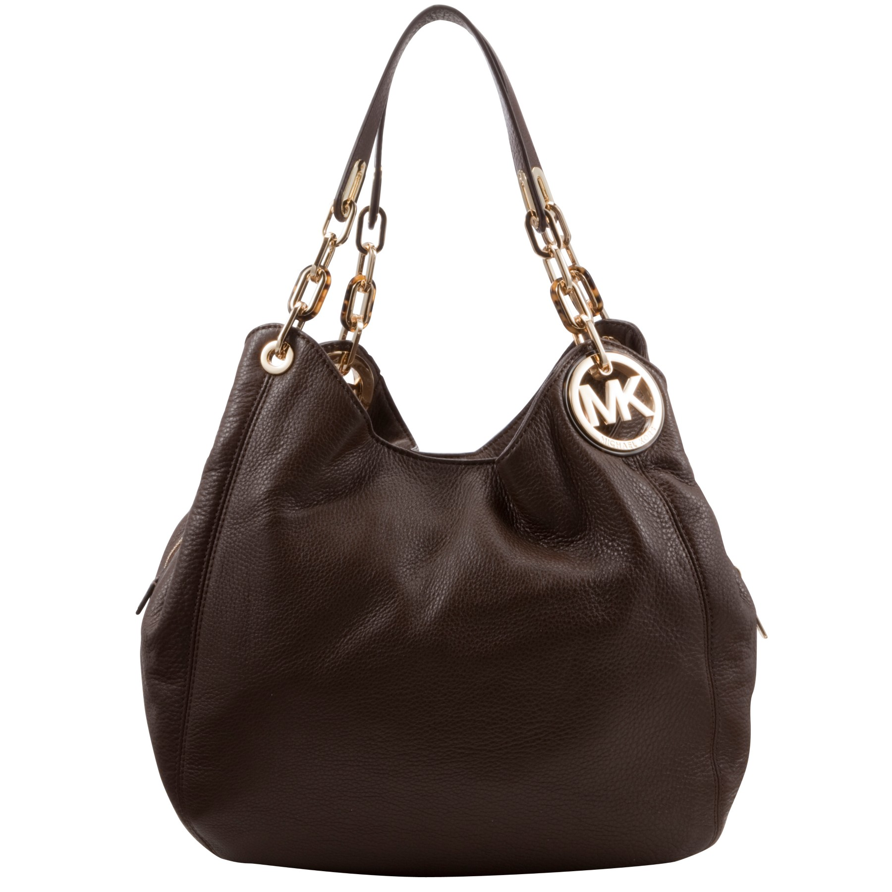 michael michael kors large fulton hobo bag in brown mocha lyst. Black Bedroom Furniture Sets. Home Design Ideas