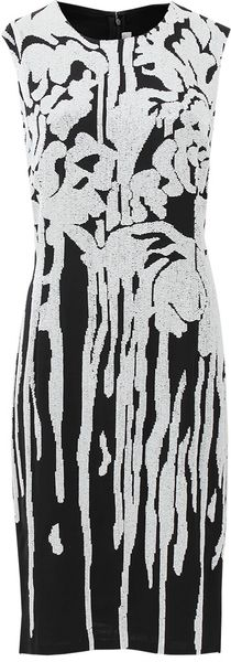 Naeem Khan Sleeveless Caviar Drip Bead Dress - Lyst