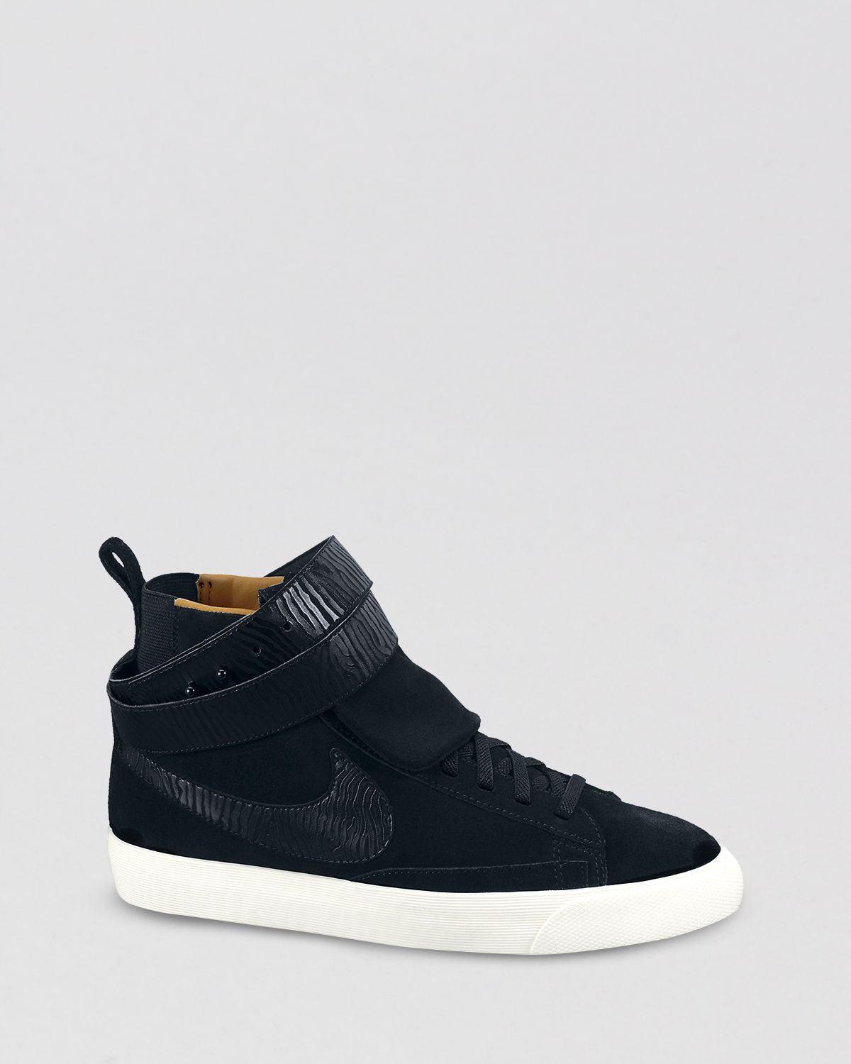 nike high top sneakers blazer twist suede in black lyst. Black Bedroom Furniture Sets. Home Design Ideas
