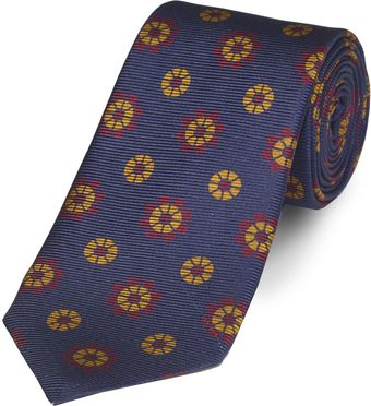 Paul Costelloe Navy Floral Tie - Lyst