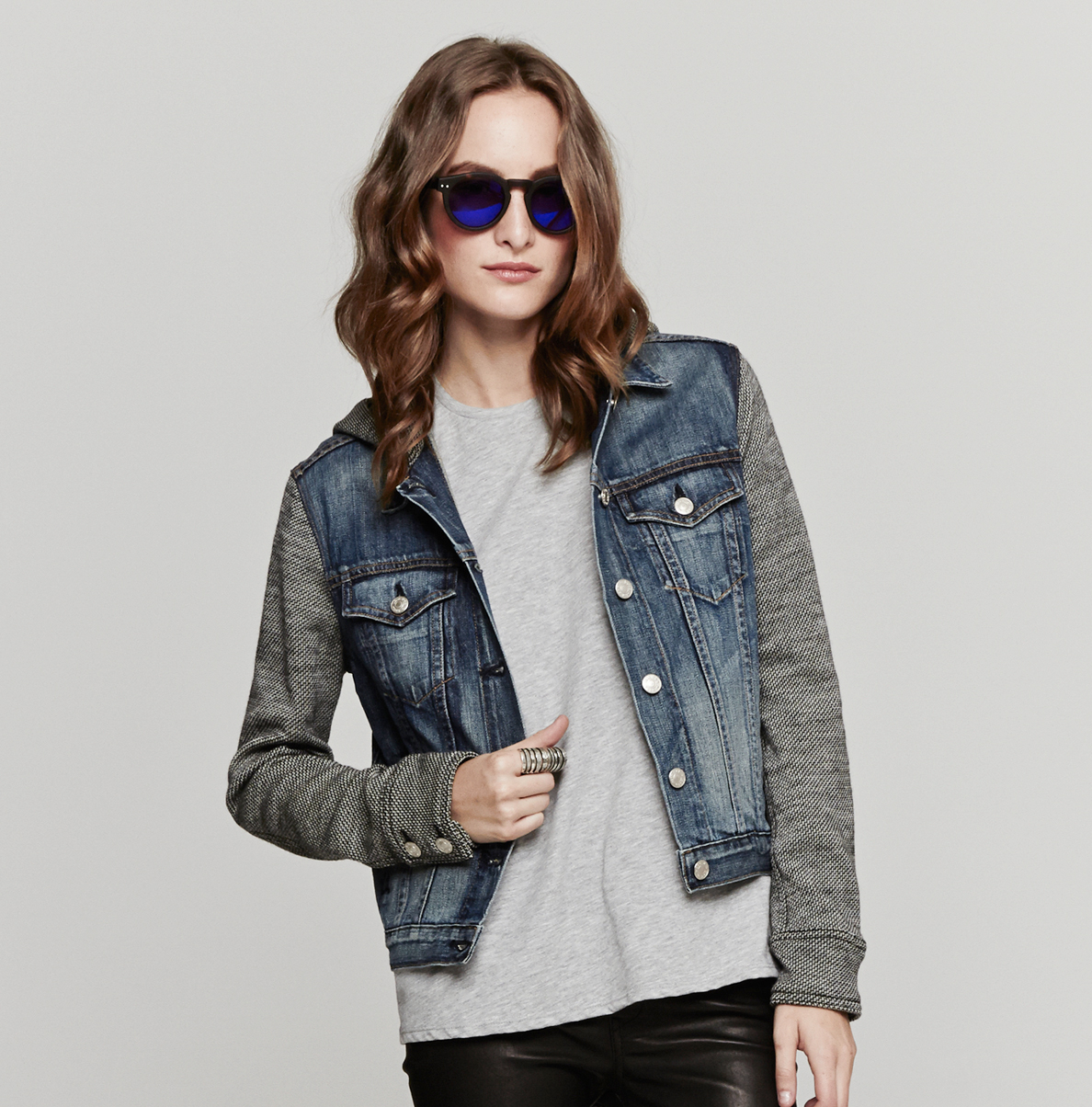 Rag & bone The Jean Jacket Whood in Blue | Lyst