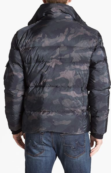 Sam Racer Camouflage Water Resistant Puffer Jacket In