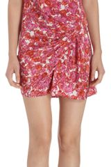Thakoon Floral Print Gathered Side Dress - Lyst