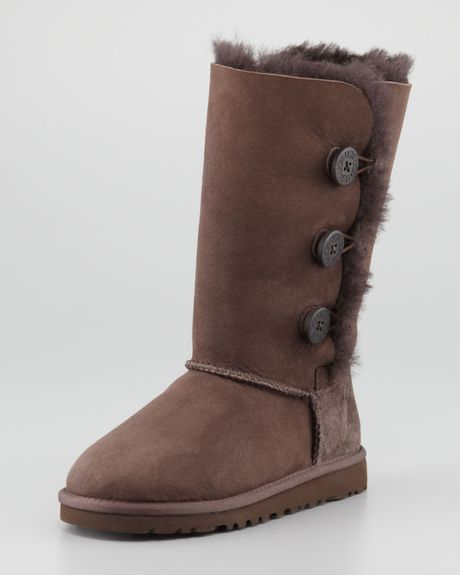 Ugg Bailey Triplet Button Tall Boot Chocolate Brown Youth