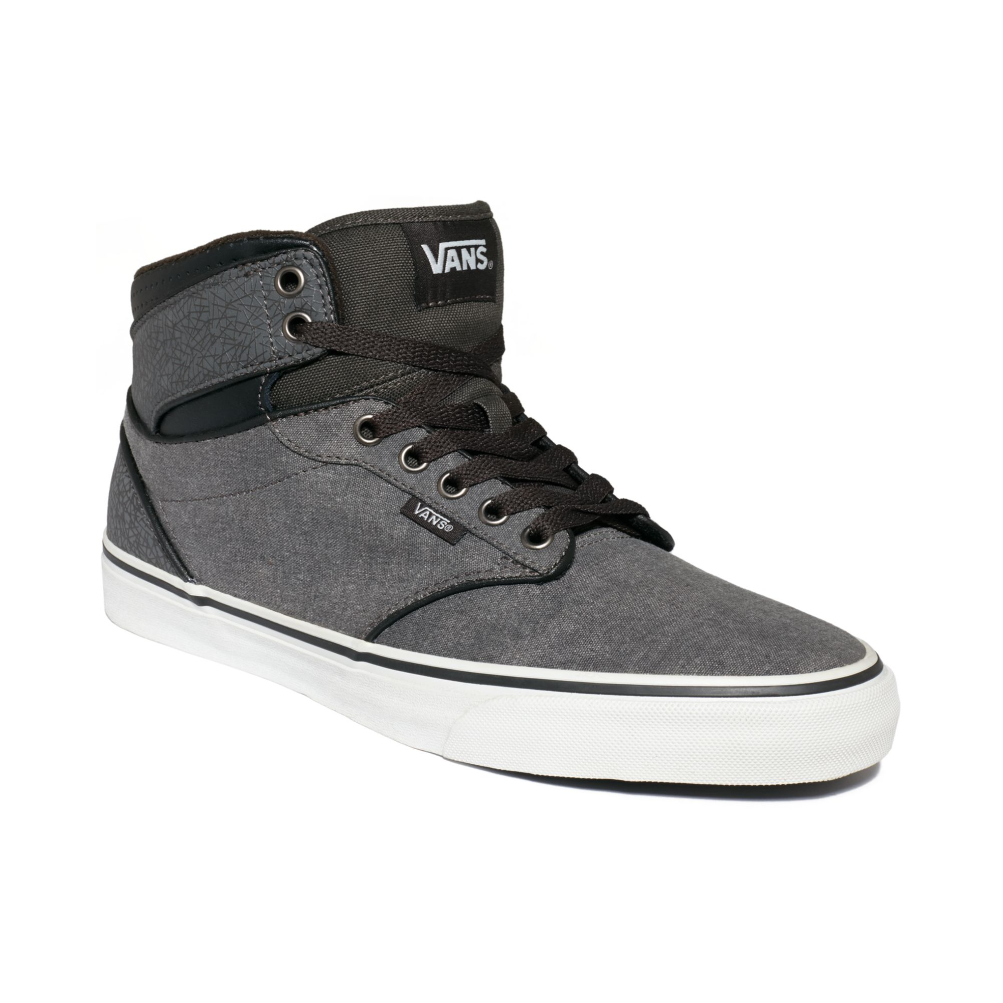 vans atwood black grey red