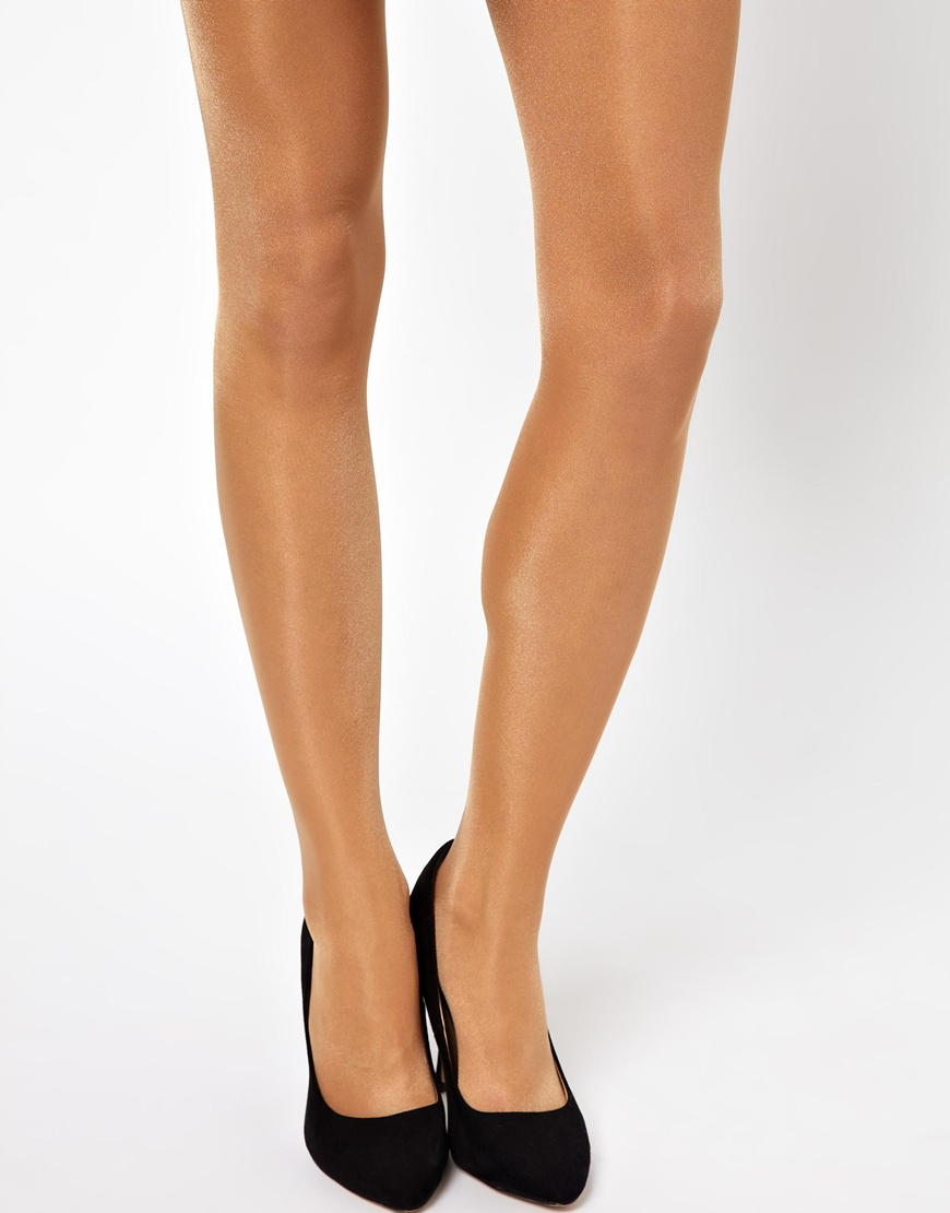 b0f0556a6d5 Wolford 3 Pack Satin Touch 20 Denier Tights in Natural - Lyst