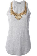 Alexander McQueen Glory Embroidered Tank Top - Lyst