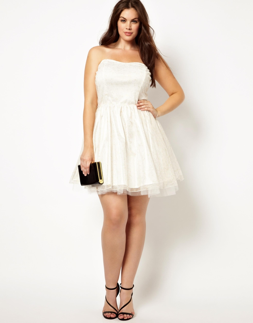 aafe750b4 White and Ivory Plus-Size Party Dresses - PromGirl