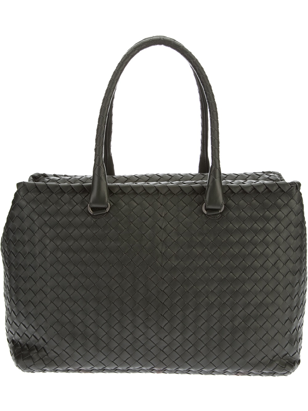 Bottega veneta Medium Sized Shoulder Bag in Black | Lyst