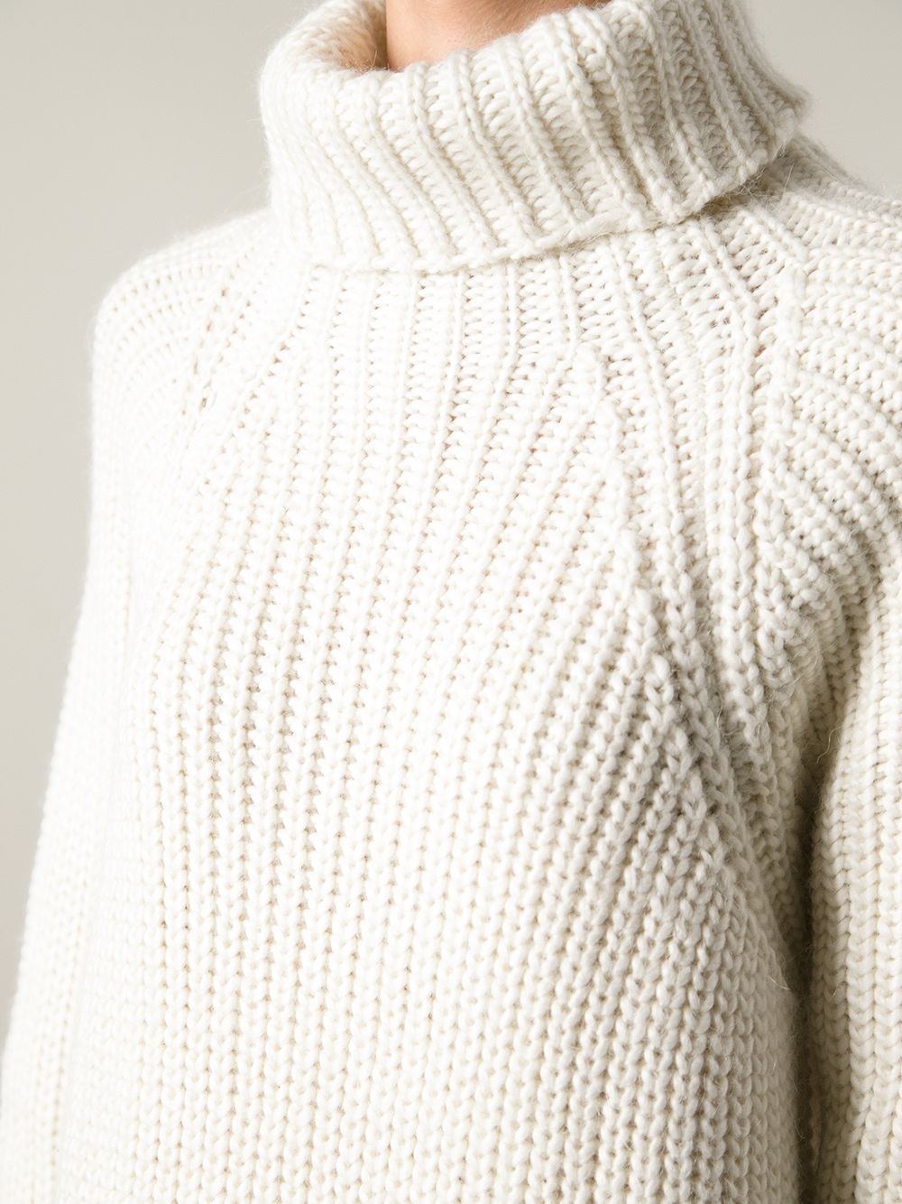 Carin wester Chunky Knit Sweater in White | Lyst