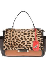 Diane Von Furstenberg Animal Print Shoulder Bag - Lyst