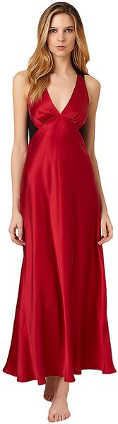 Donna Karan New York Glamour Silk Long Gown - Lyst